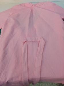 Belt sewed at the back