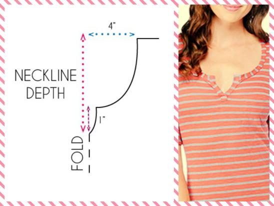 round split neckline