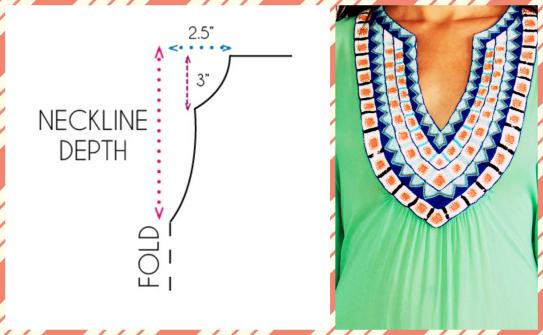 split neckline