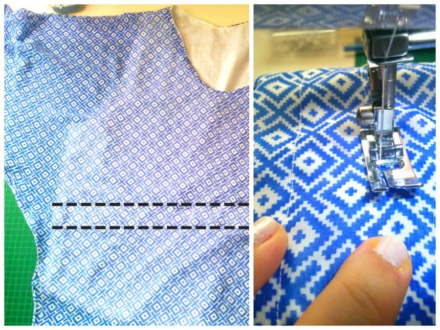 top stitch casing