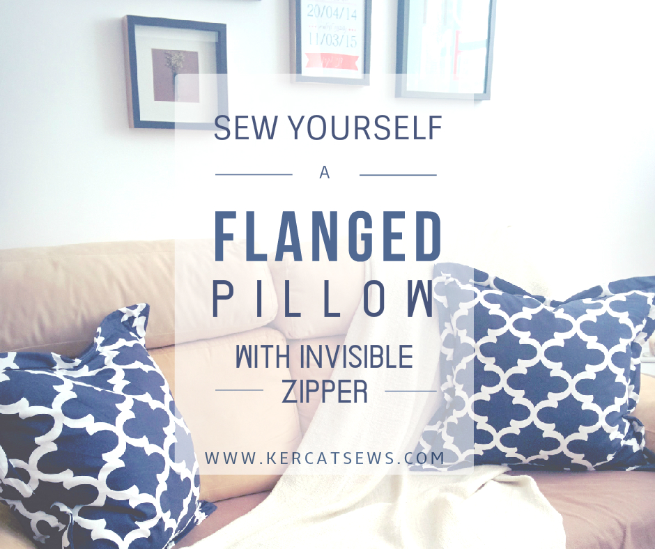 flanged pillow cover
